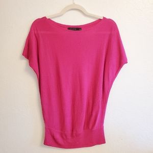 THE LIMITED Fuschia Short Sleeve Sweater Top XS